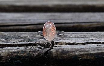 Prstene - Prsteň Slnečný Kameň Ag - 11912586_