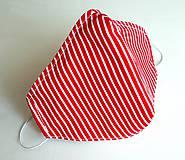 Ochranné rúško 3-vrstvové - červenobiele pásikavé