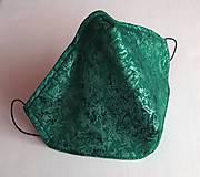 Ochranné rúško dizajnové 3-vrstvové - Elegantné metalické zelené (perleťové)