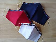 Rúška - Set dizajnové rúška folklórna rodina tvarované dvojvrstvové - 11917002_