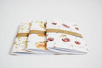 Papiernictvo - 3 zápisníky A6 - čerešne, marhule - 11916182_