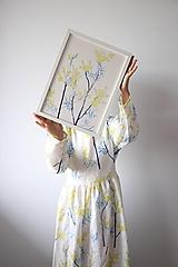 Obrazy - Reprodukcia akvarelu - Mimóza - 11917086_