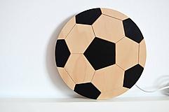 Detské doplnky - Detská drevená lampa - Futbalová lopta - 11914927_