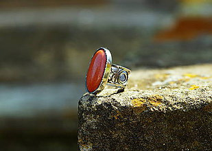 "Prstene - Nerezový prsten ...."" Gold sand "" - 11916862_"