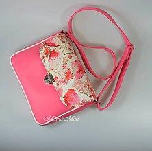 Kabelky - dámska kabelka - Sára - ružové maky - 11916008_