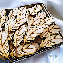 Pierka - Svadobné pierka s monogramom - 11916614_