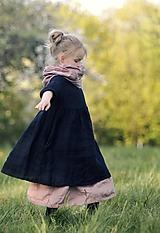 Detské oblečenie - Lněné šatičky černé - 11914924_