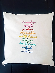 Úžitkový textil - ZĽAVA•vankúš - somewhere over the rainbow• - 11915165_