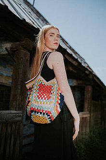 Veľké tašky - Háčkovaná taška - 11915817_
