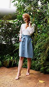 Sukne - LILL lněná sukně - 11916213_