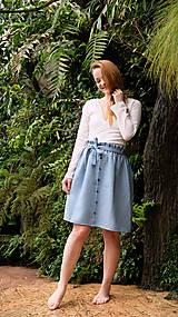 Sukne - LILL lněná sukně - 11916214_