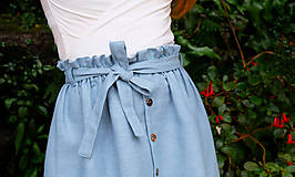 Sukne - LILL lněná sukně - 11916217_