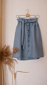 Sukne - LILL lněná sukně - 11916227_