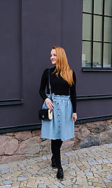 Sukne - LILL lněná sukně - 11916229_