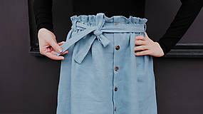 Sukne - LILL lněná sukně - 11916231_