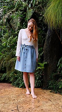 Sukne - LILL lněná sukně - 11916215_