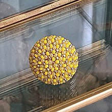 Prstene - {LETO 2020} žltý prsteň na leto - 11916690_