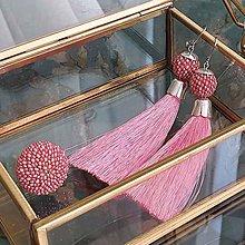Sady šperkov - {LETO 2020} PIVONKY ružový letný set, náušnice a prsteň - 11916796_
