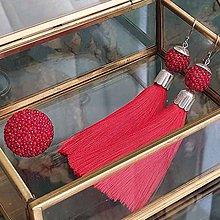 Sady šperkov - {LETO 2020} JAHODY červený letný set, náušnice a prsteň - 11916837_