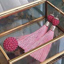Sady šperkov - {LETO 2020} MALINY ružový letný set, náušnice a prsteň - 11916875_