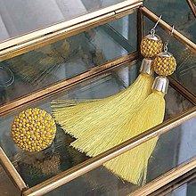 Sady šperkov - {LETO 2020} CITRÓNY žltý letný set, náušnice a prsteň - 11916923_