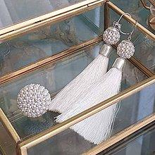 Sady šperkov - {LETO 2020} KOKOS biely letný set, náušnice a prsteň - 11916936_