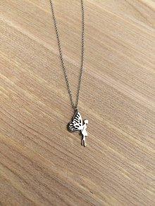 Náhrdelníky - náhrdelník s vílou - oceľ - 11917058_