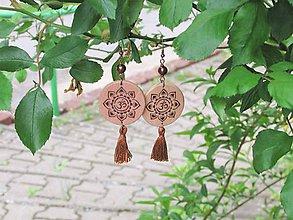 Náušnice - Drevené náušnice XXII - 11915262_