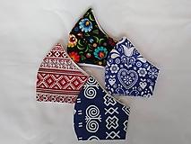 Rúška - Set folklór dizajnové rúška tvarované dvojvrstvové - 11920099_