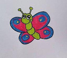 Rúška - Detské rúško - Motýlik - 11920819_