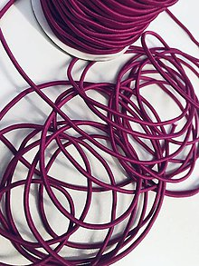 Galantéria - Klobukova guma cyklamenova 2 mm - 11921473_