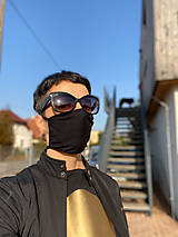 Rúška - MDLK Rouška dvouvrstvá černá - 11919743_