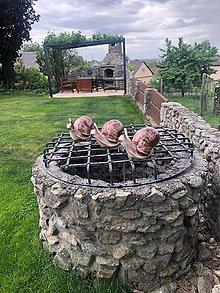 Socha - Veľký keramický slimák do záhrady - 11920362_