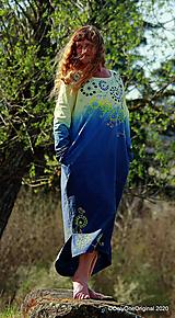 Dámske šaty maxi, oversize, šité, maľované, batikované, etno ČAKANKY