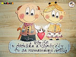 Tabuľky - Menovka - babka a dedko - 11920437_
