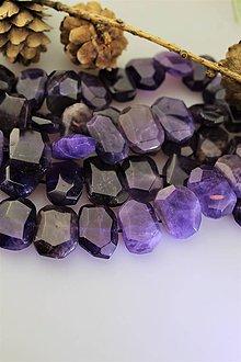 Minerály - ametyst nugety brúsené cca15x20mm - cena za 3ks! - 11922243_