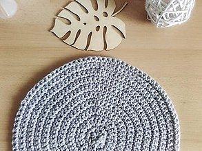 Úžitkový textil - Podsedák šedý okrúhly - 11919224_