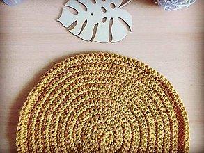 Úžitkový textil - Podsedák horčicový okrúhly - 11919237_