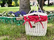 Nákupné tašky - Piknikový košík white - 11920135_