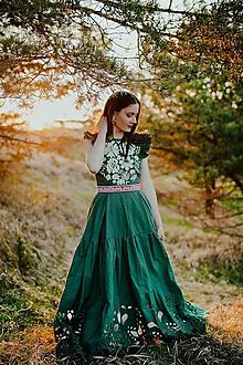 Šaty - zelené madeirové šaty Poľana - 11918948_