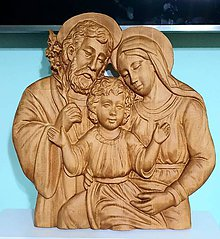 Grafika - Drevorezba Svätá rodina 02 - 11922352_