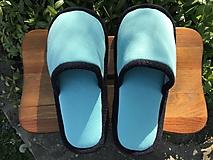 Obuv - Tyrkysové papuče - 11918832_