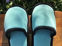Obuv - Tyrkysové papuče - 11918833_