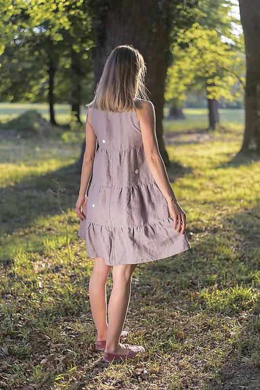 Šaty - miljö ľanové šaty - leende - 11922409_