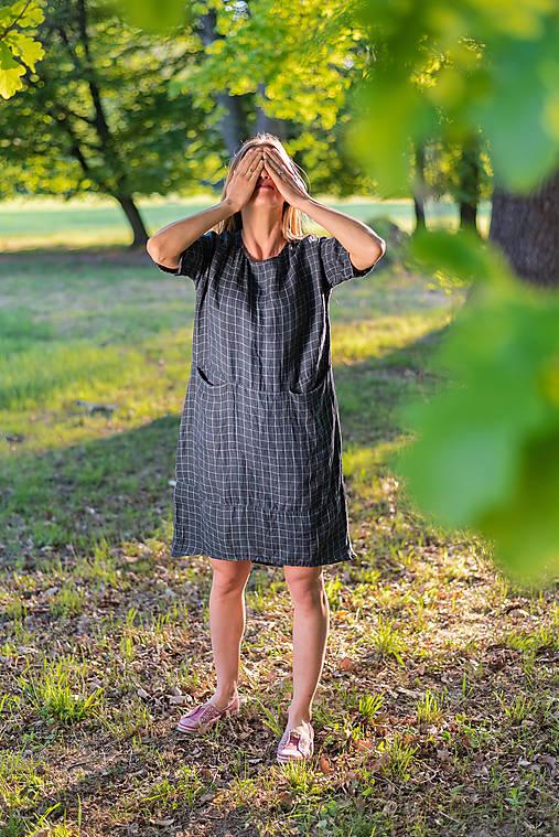 Šaty - miljö ľanové šaty - hemma - 11922525_