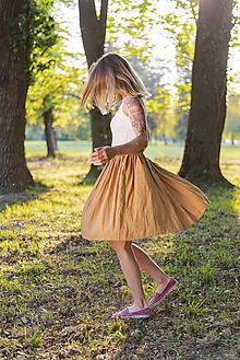 Sukne - miljö ľanová sukňa - dragspel - 11922461_