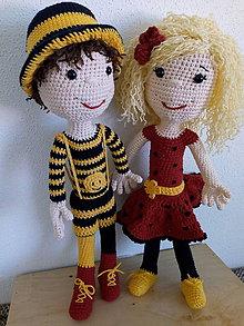 Hračky - Bábiky - chlapec a dievča - 11921588_