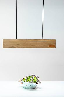 Svietidlá a sviečky - Svietidlo z dreva EDA - 11921200_