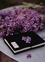 Papiernictvo - A6 zápisník z filcu - čistý, čierny - 11922059_