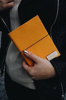 Papiernictvo - A6 zápisník z filcu - čistý, žltý - 11922124_